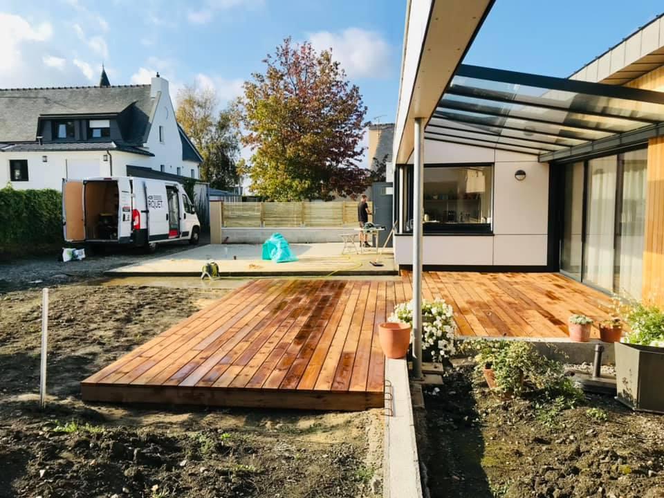 Lame de terrasse en pin des landes, bois resineux, pose d'un terrasse, pin des landes